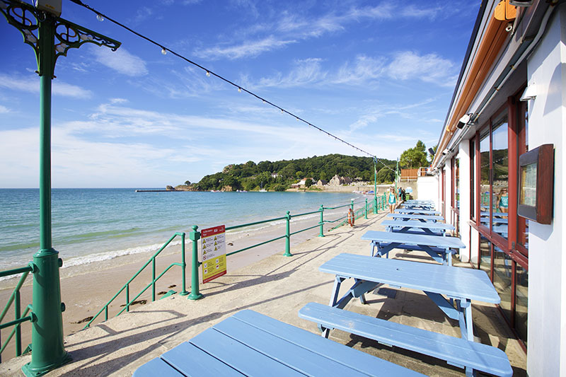 Beachside Dining at Jersey Crab Shack St. Brelade's Bay