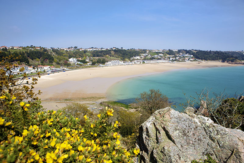 View of Oyster Box and Jersey Crab Shack - St. Brelade's Bay