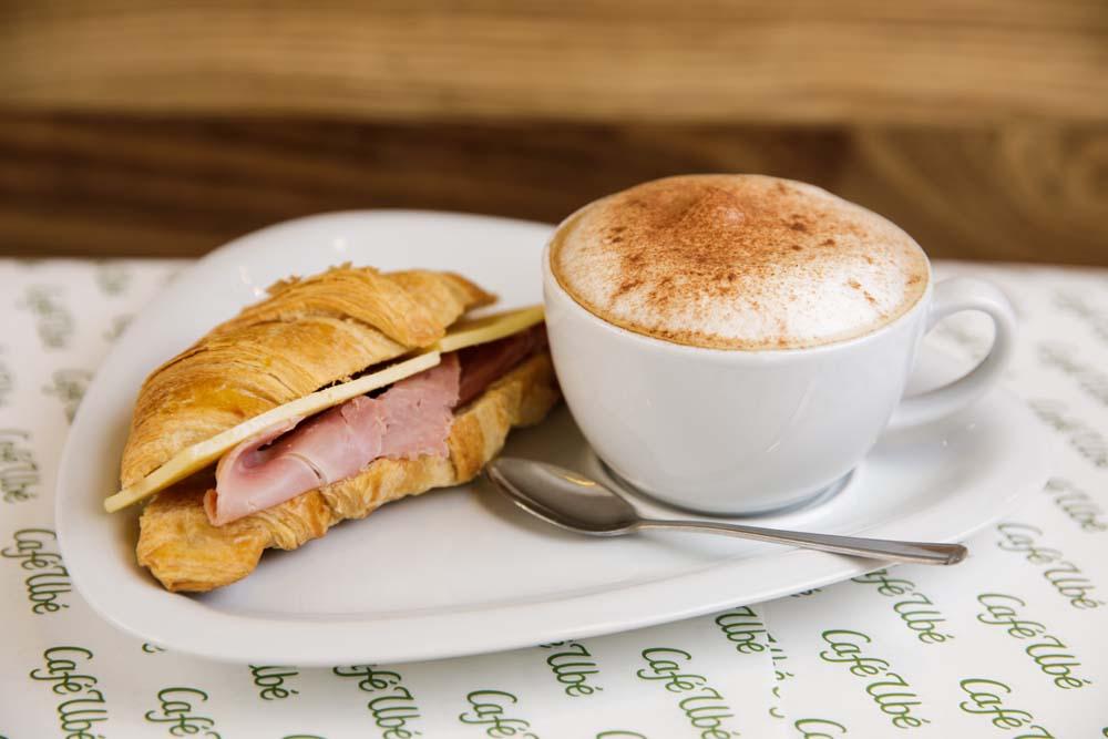 Cheese & Ham Croissant  - Café Ubé Jersey