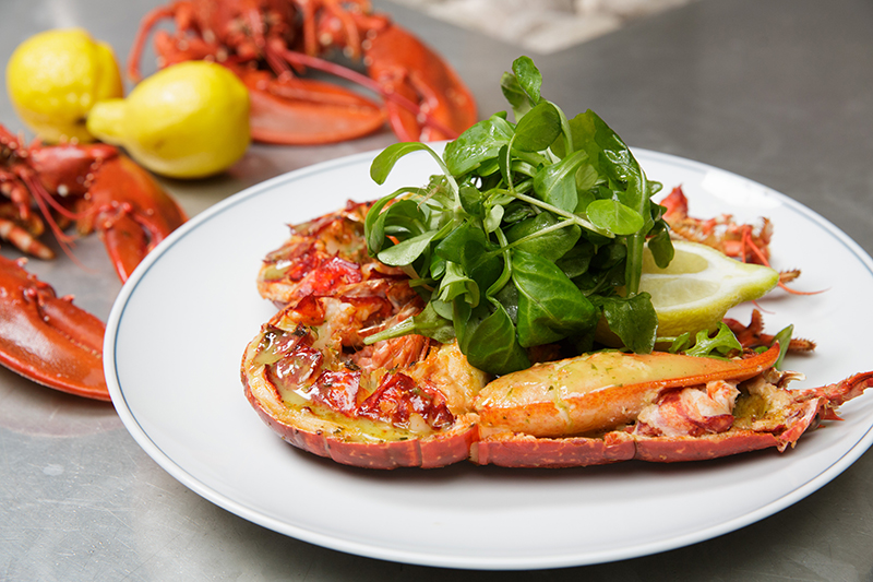 Banjo Jersey Grilled Lobster with Garlic Butter