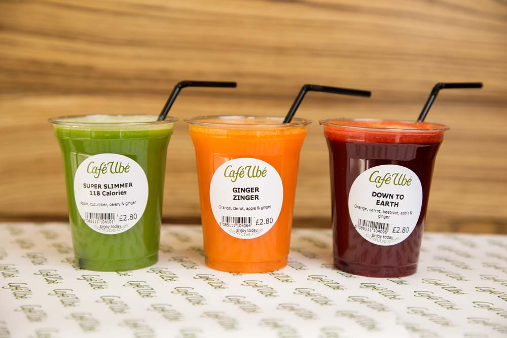 Super Slimmer, Ginger Zinger & Down to Earth Juices