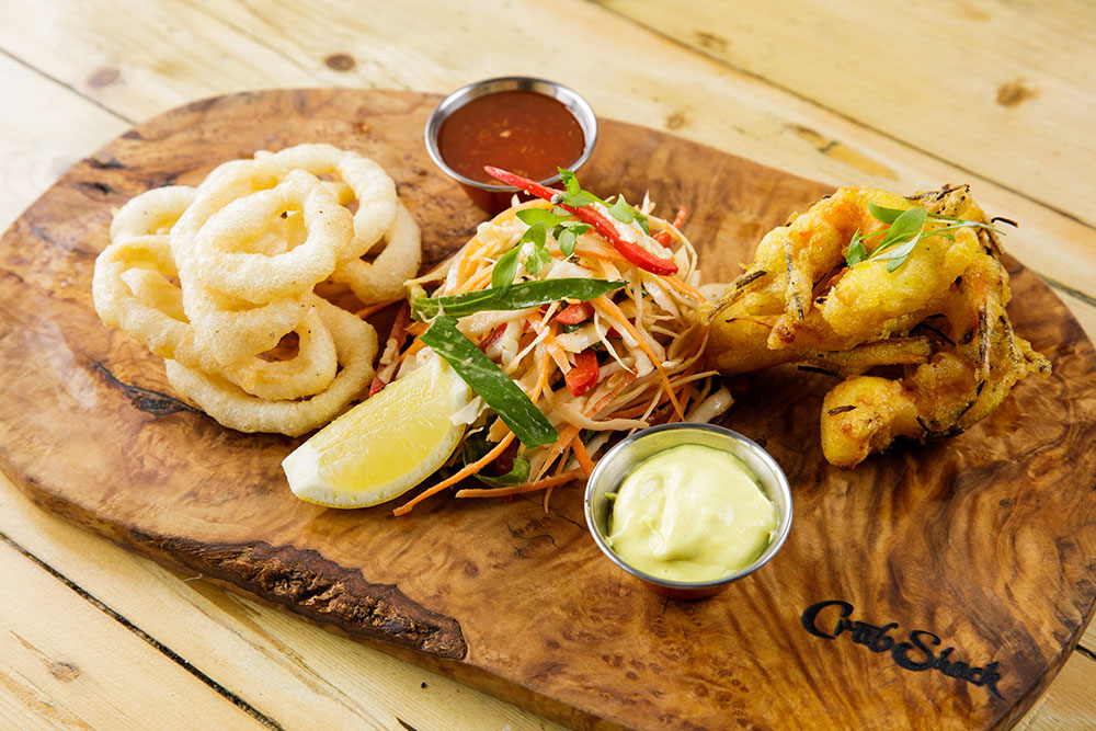 Jersey Crab Shack Crispy King Prawn Fritter & Squid Board