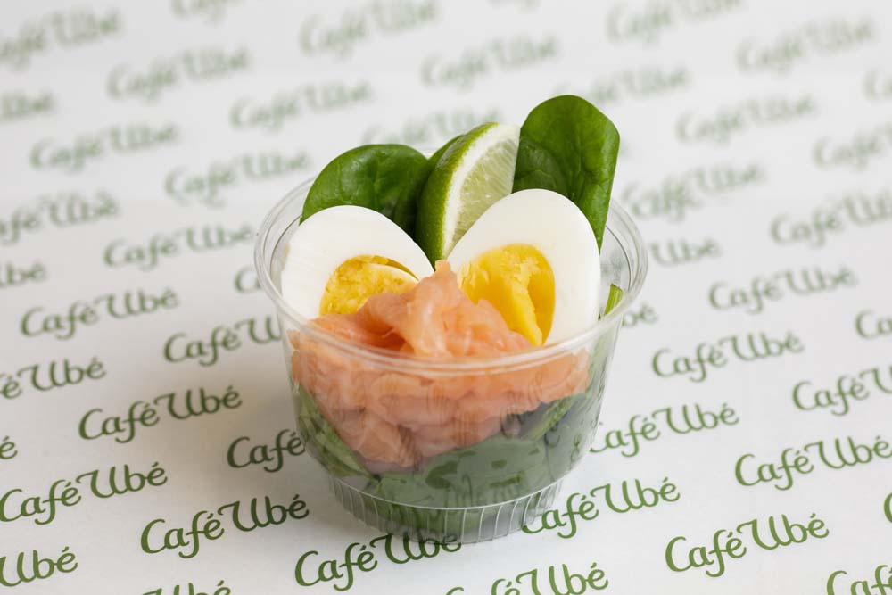 Smoked Salon and Egg Protein Pot- Café Ubé Jersey