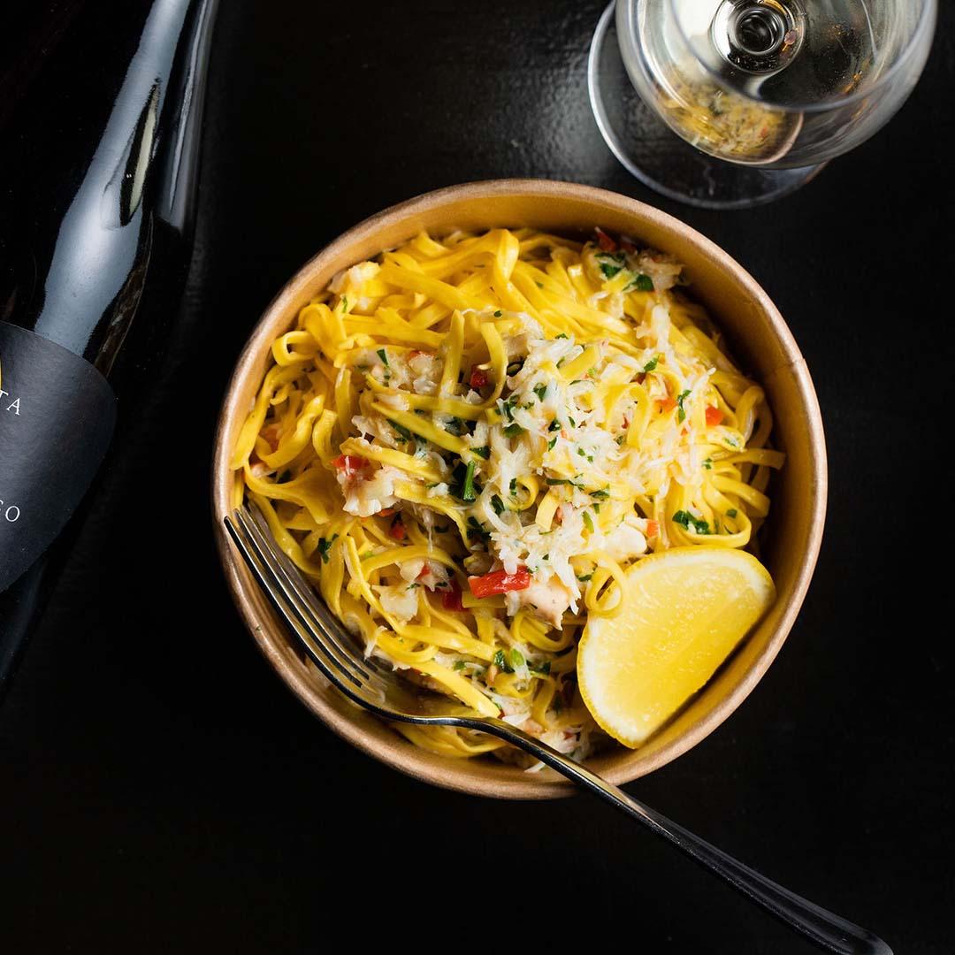 Crab taglierini ribbon pasta