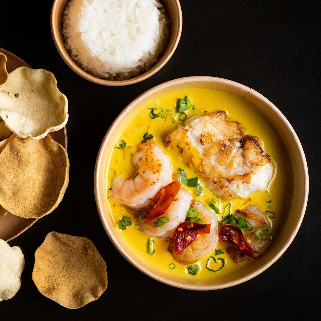 Goan monkfish and king prawn curry